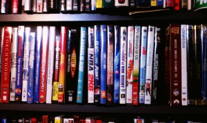 One of our many shelves of Media